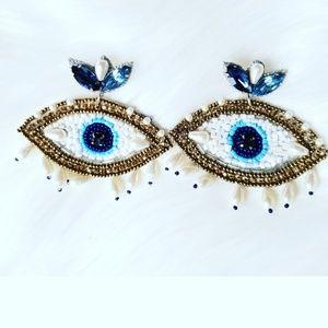Beaded earrings, statement earrings
